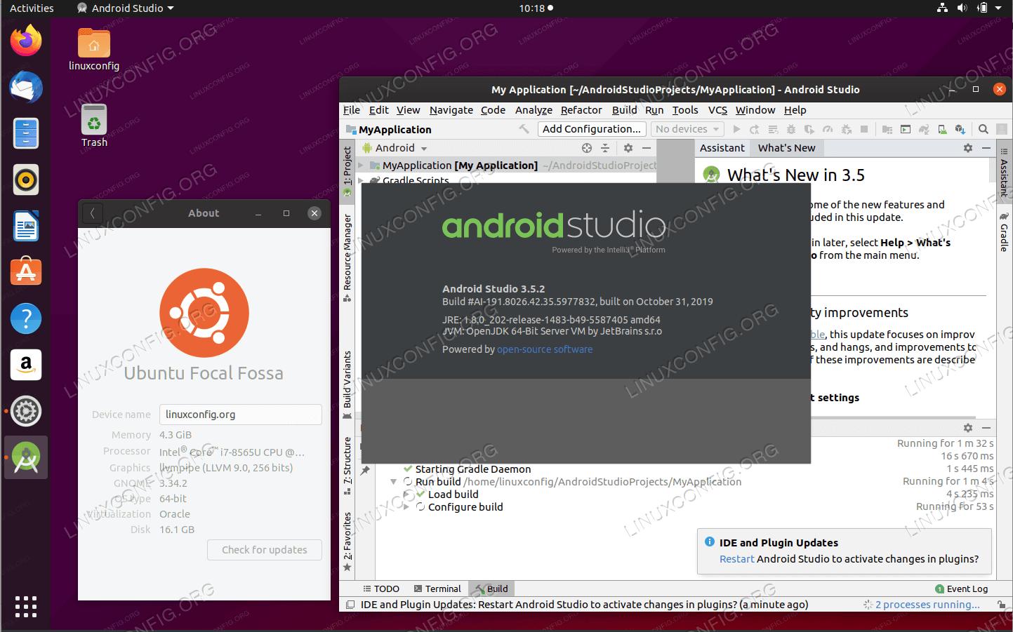Android Studio на Ubuntu 20.04 Focal Fossa Linux