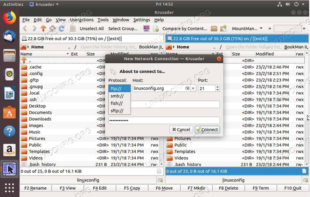 FTP-клиент Ubuntu - Krusader