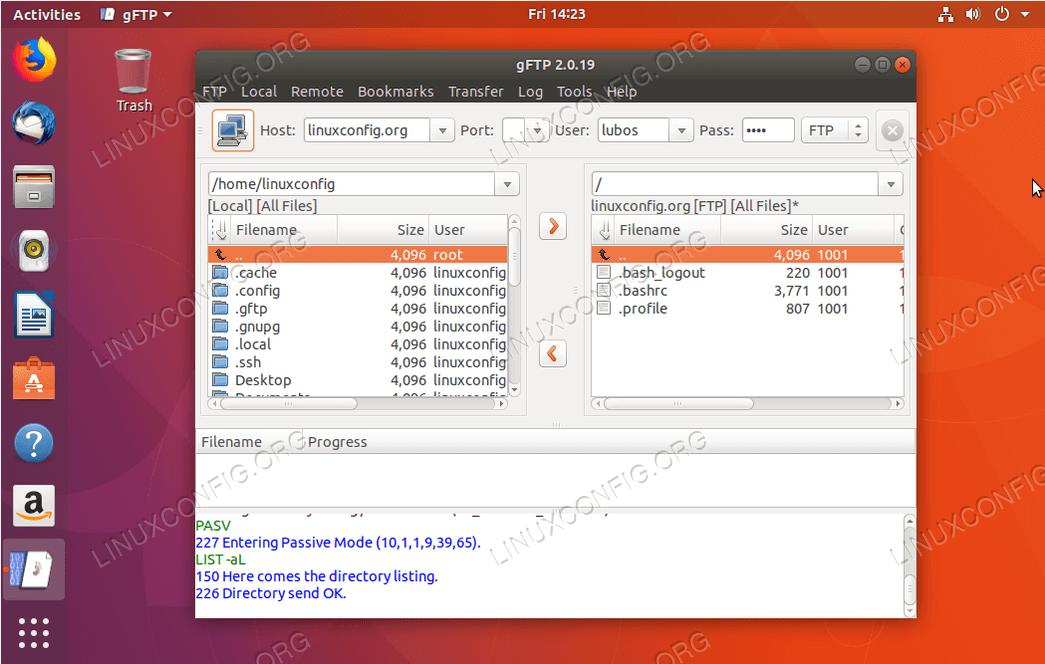 FTP-клиент Ubuntu - gFTP