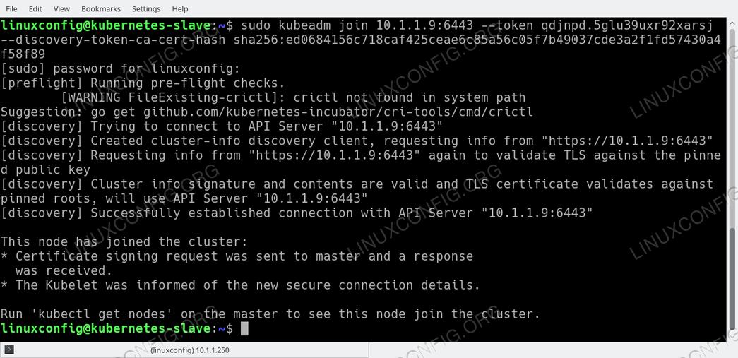 Ubuntu 18.04 Node присоединяется к кластеру Kubernetes