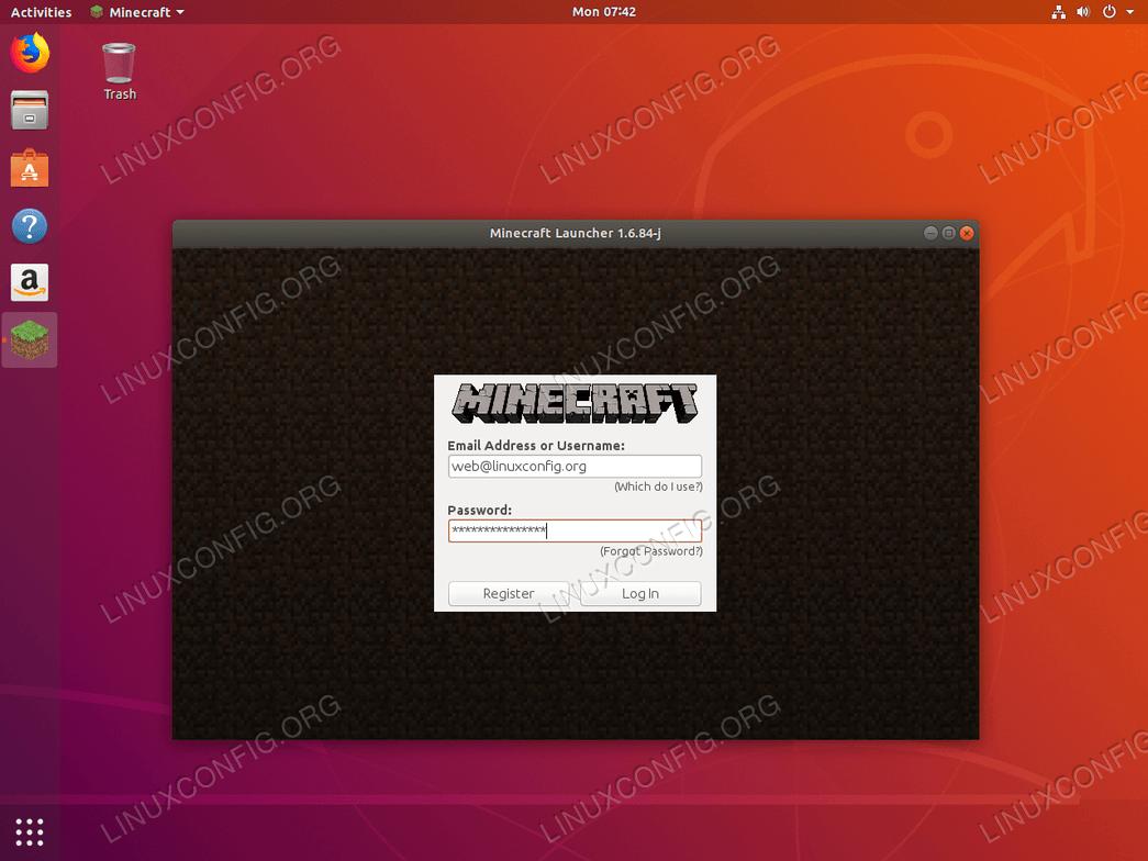 Minecraft на Ubuntu 18.04