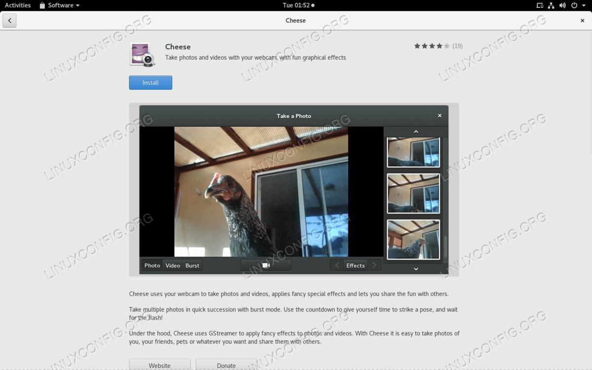 Другой способ установить приложение - использовать программный графический интерфейс.  Просто наведите и нажмите.