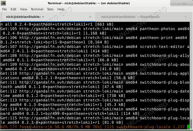 Instale o Pantheon Desktop no Debian
