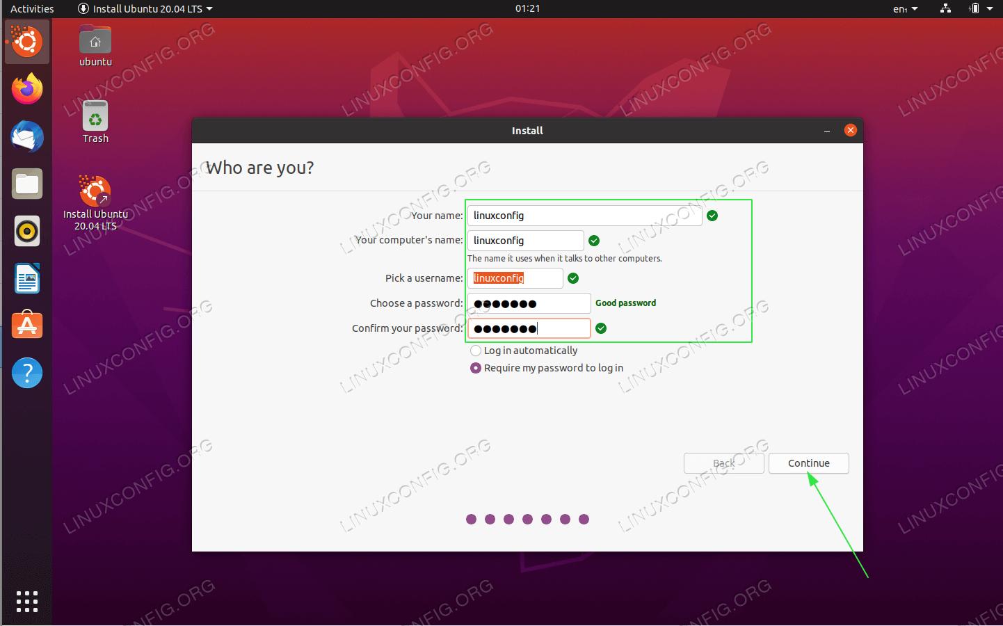 ваши учетные данные и имя компьютера