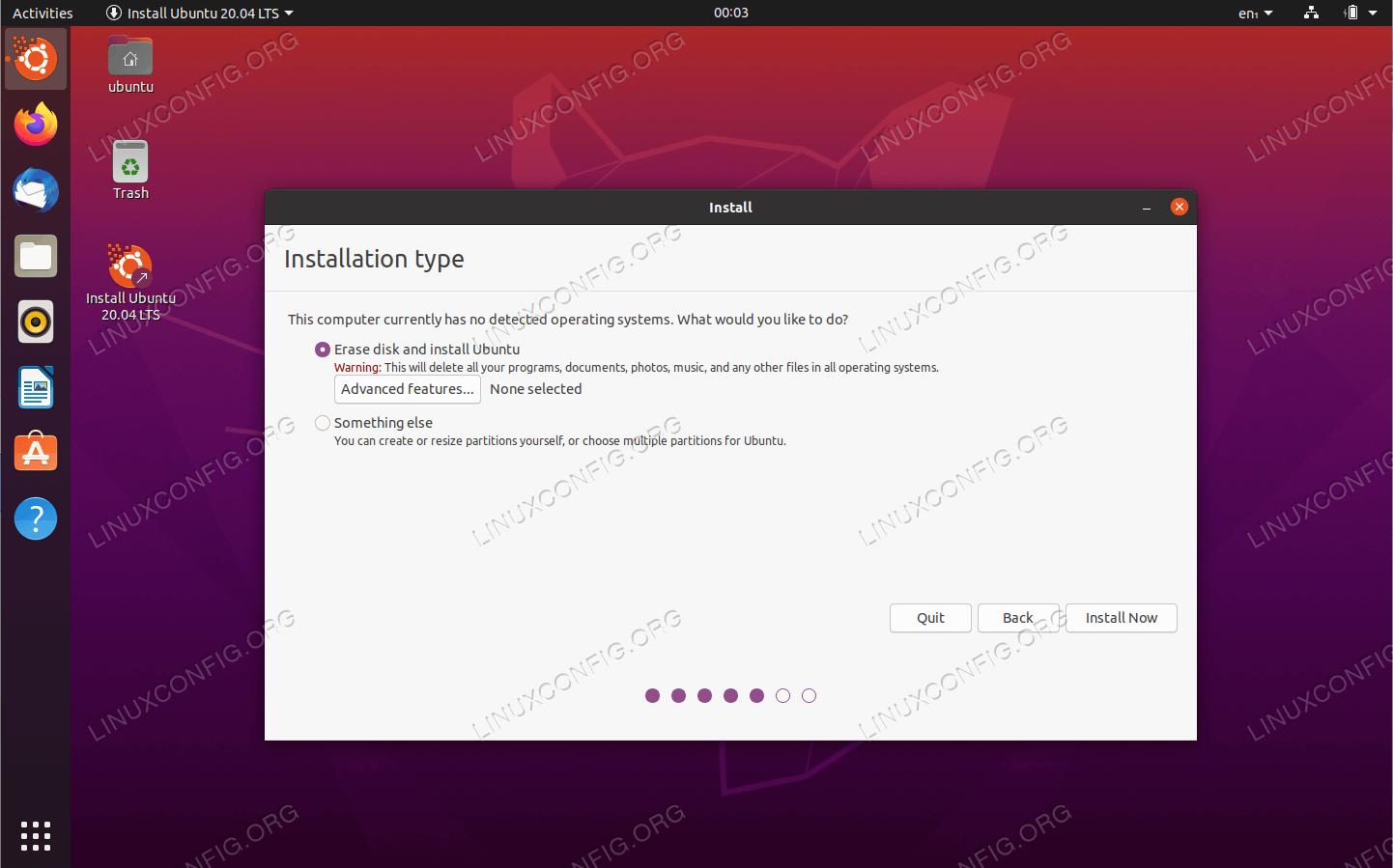 Стереть диск и установить Ubuntu
