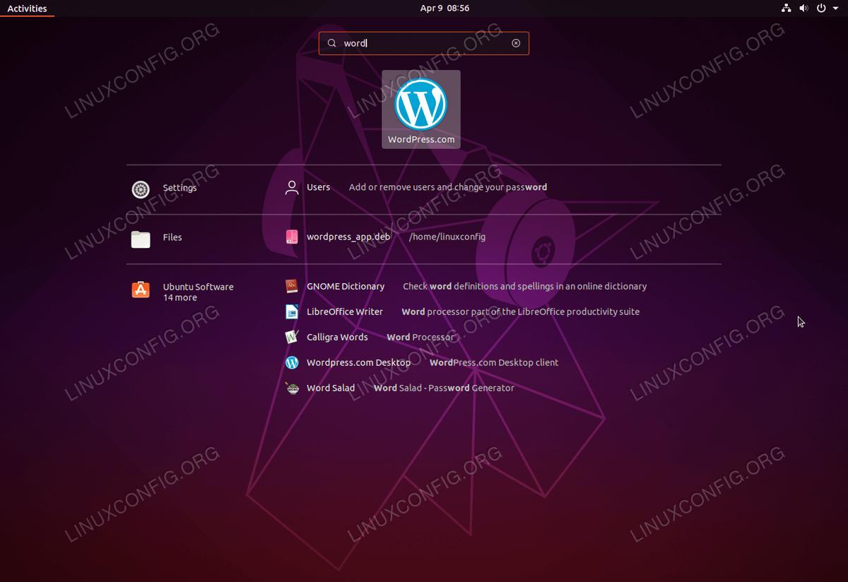 Настольный клиент Wordpress в Ubuntu Linux