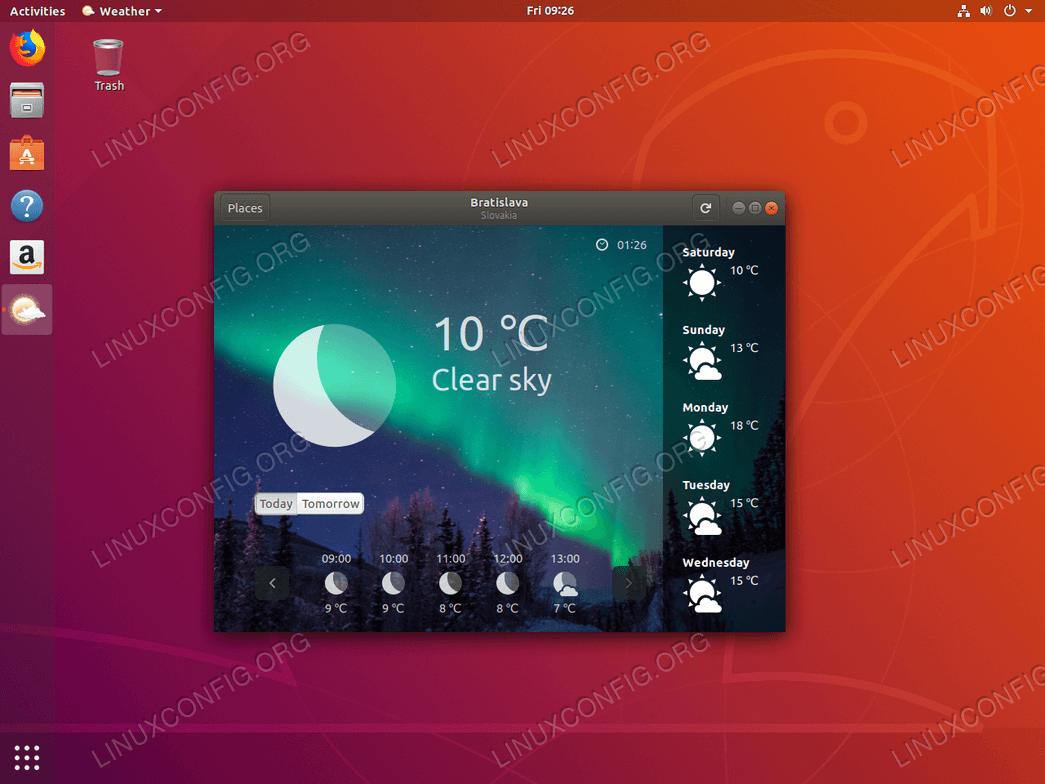Гном Погода на Ubuntu 18.04
