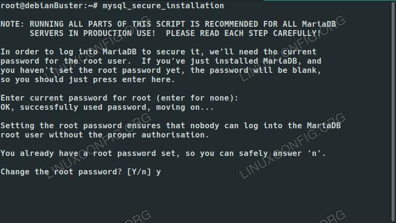 Безопасная установка MariaDB в Debian 10
