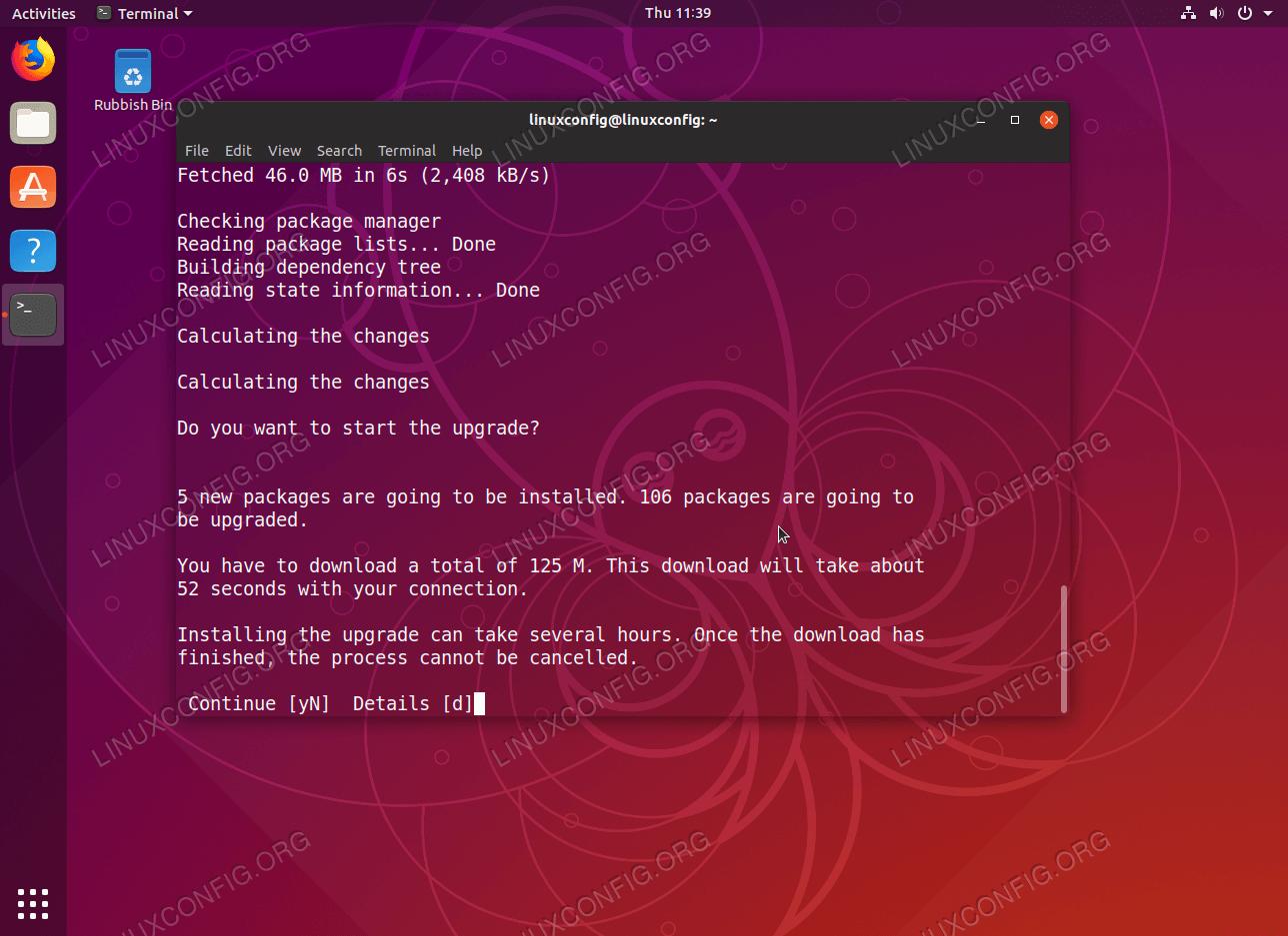 Обновление до Ubuntu 19.04 Диско Динго