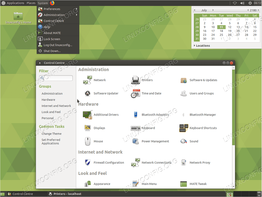 установить графический интерфейс сервера Ubuntu - Mate core