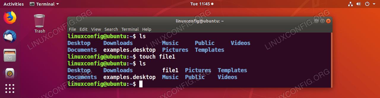 Erstellen Sie eine Datei mit dem GNU / Linux-Befehl touch