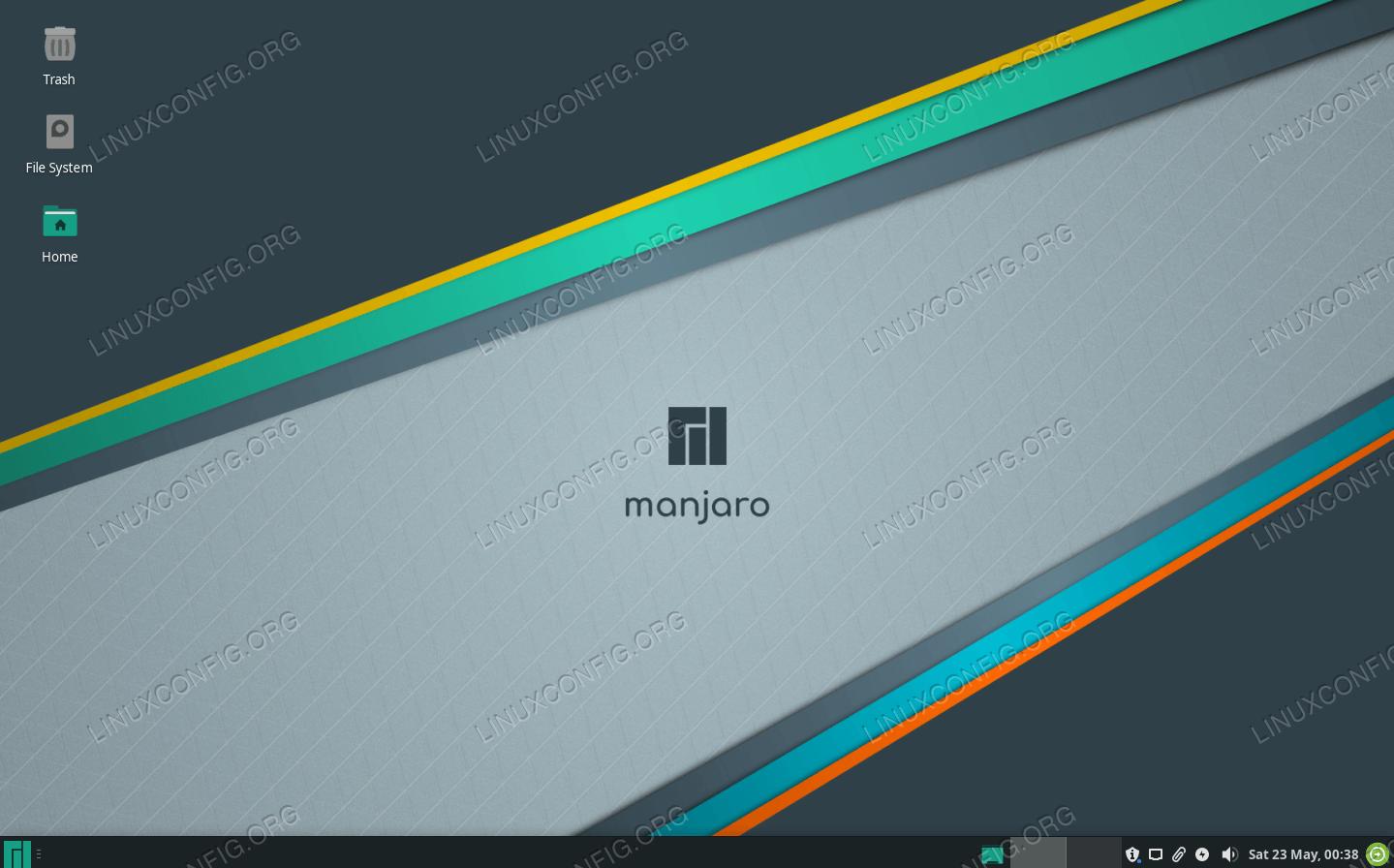 Manjaro работает под управлением рабочего стола Xfce