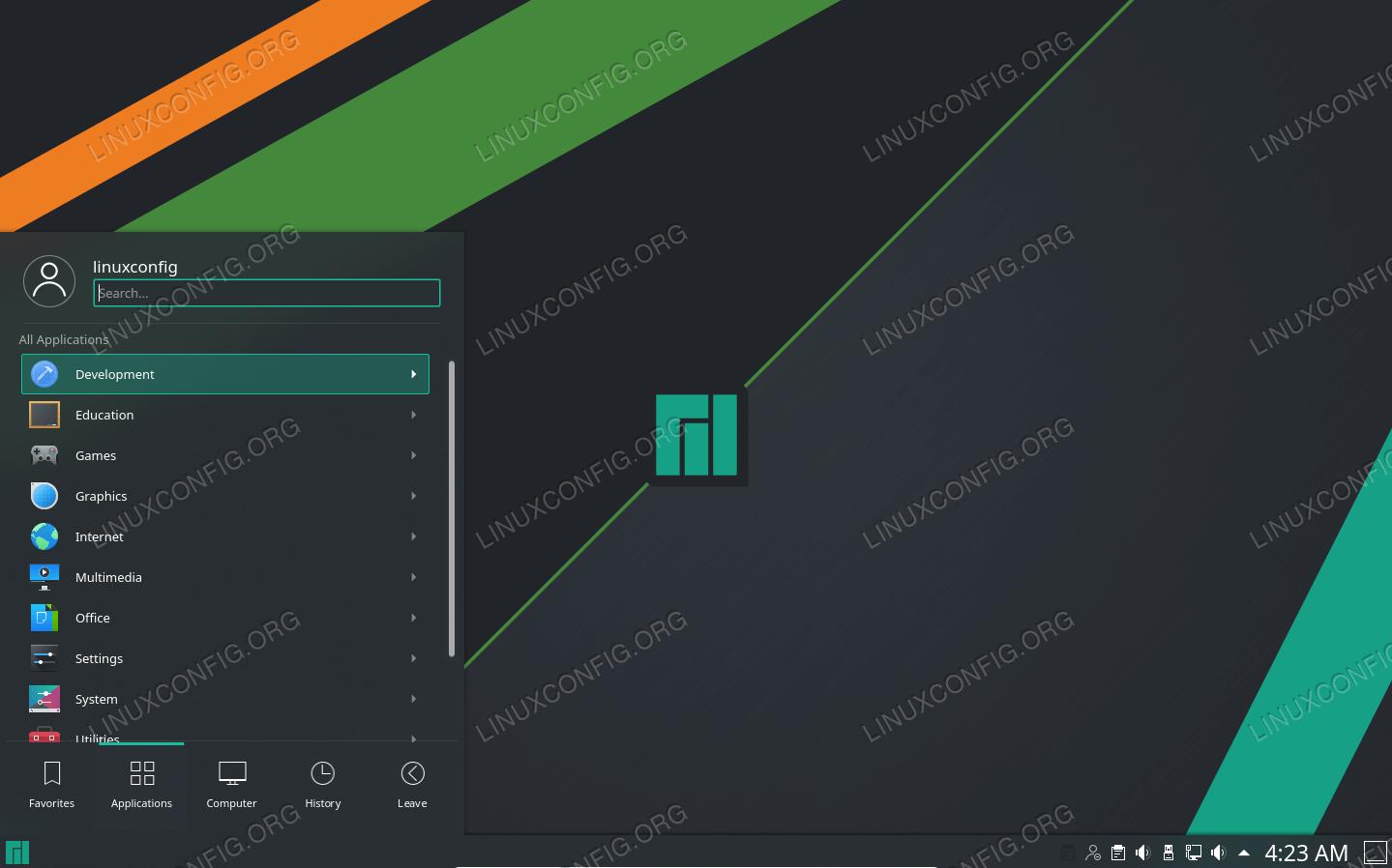 Manjaro mit KDE Plasma Desktop-Umgebung