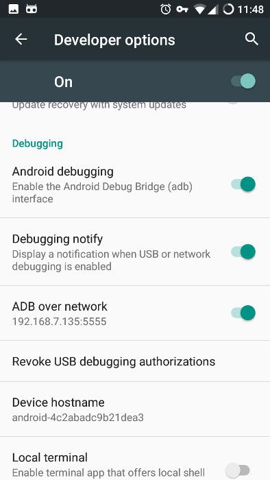 Android ADB didayakan