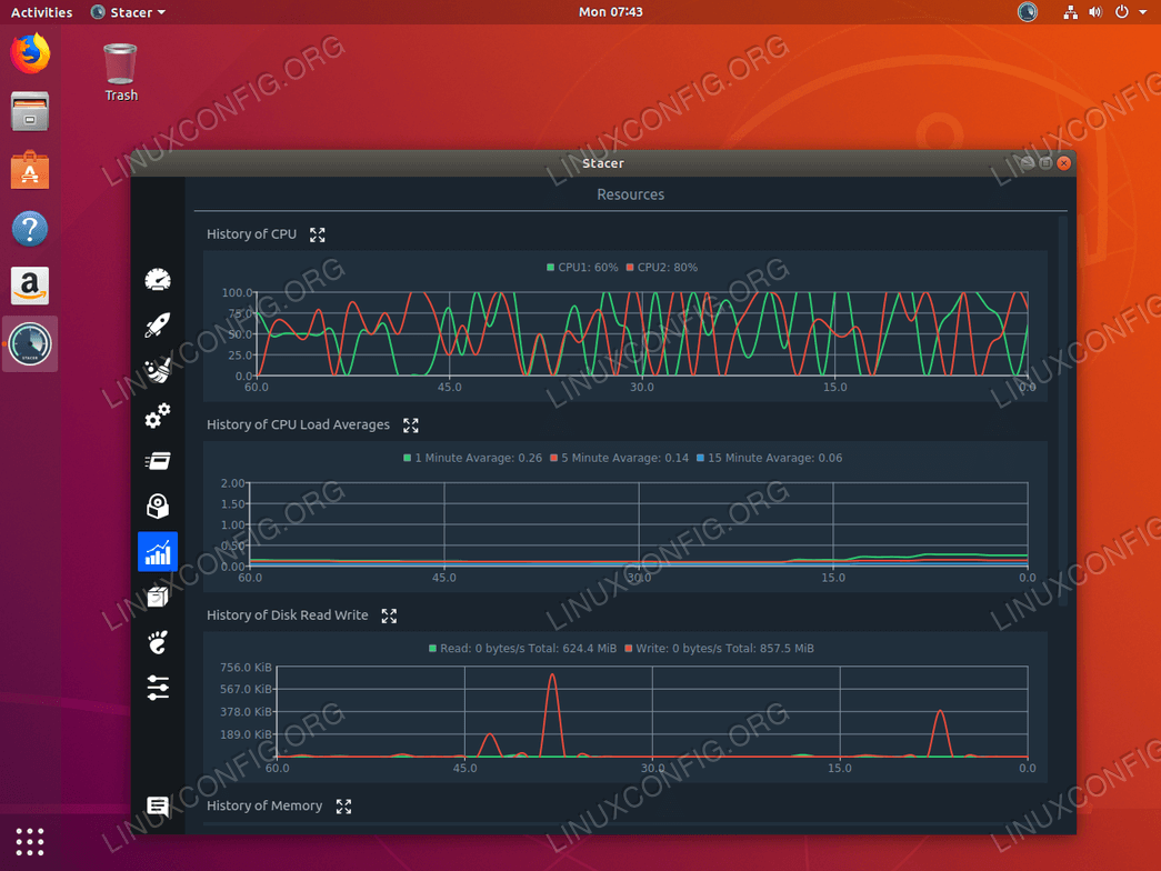 Системный мониторинг в Ubuntu 18.04 со Stacer