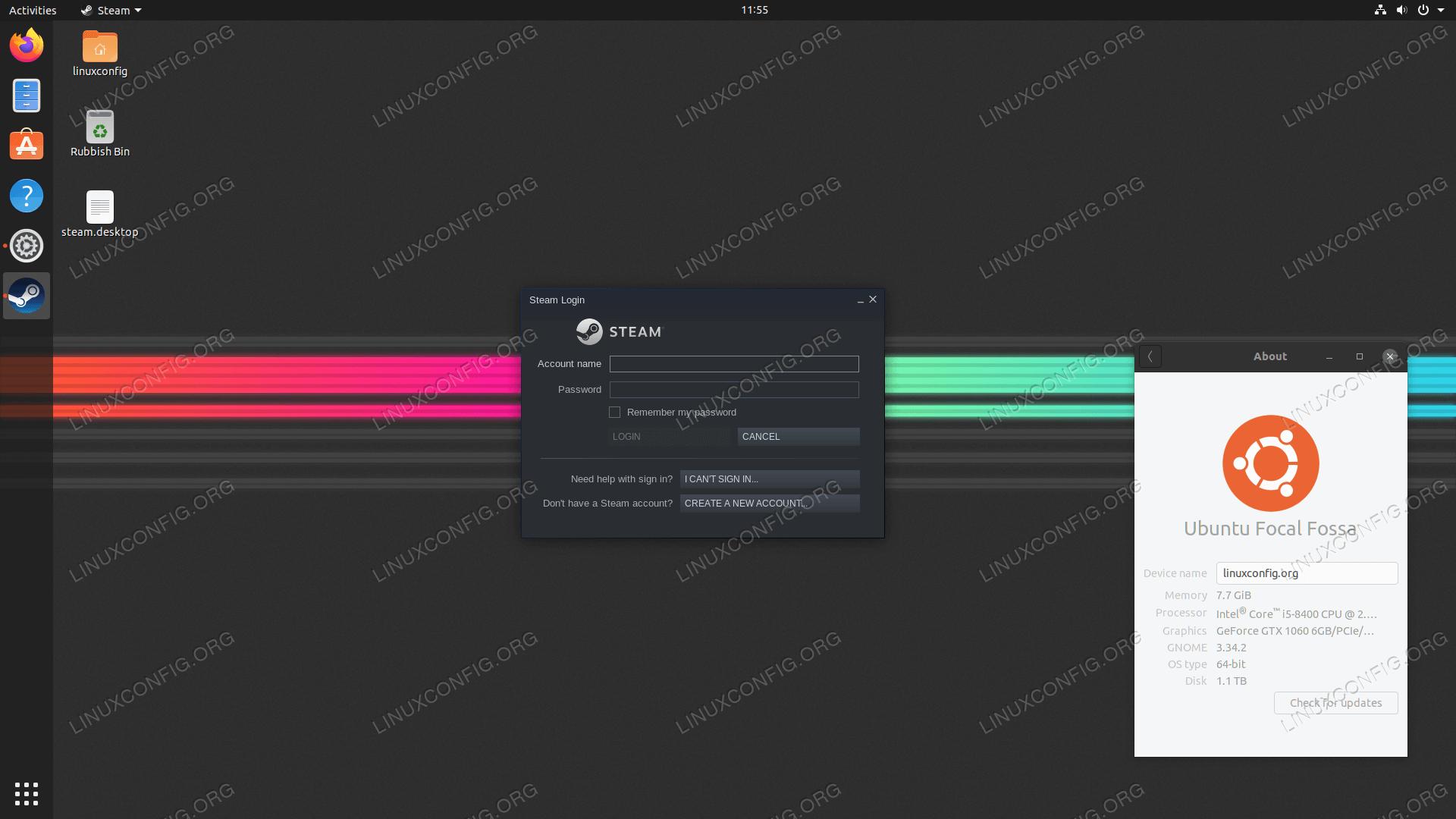 Steam на Ubuntu 20.04 Focal Fossa Linux