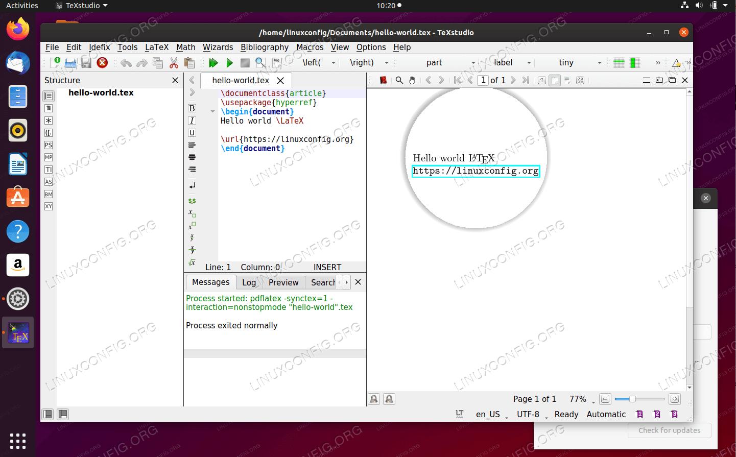 Латексный редактор и компилятор TeXstudio