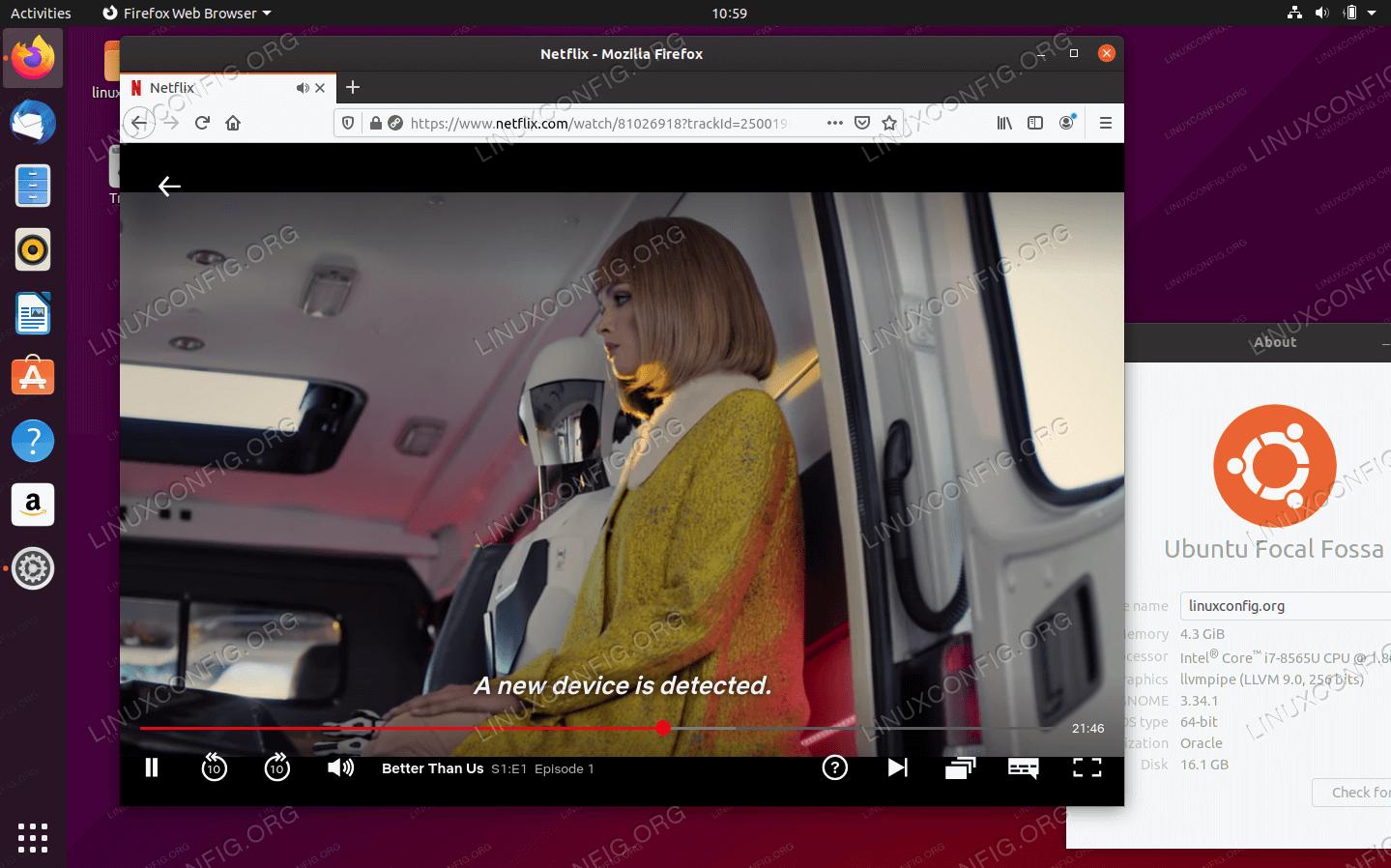 Смотря Netflix на Ubuntu 20.04