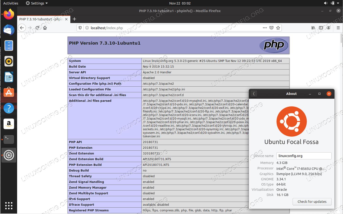Настройка сервера LAMP в Ubuntu 20.04 Focal Fossa