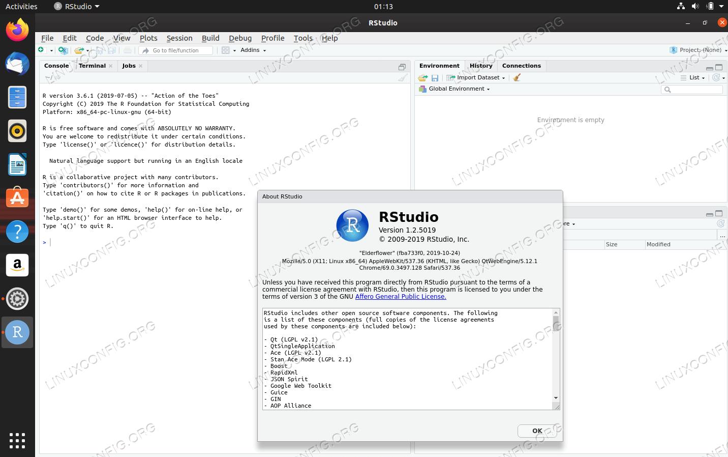 RStudio на Ubuntu 20.04 Focal Fossa Linux