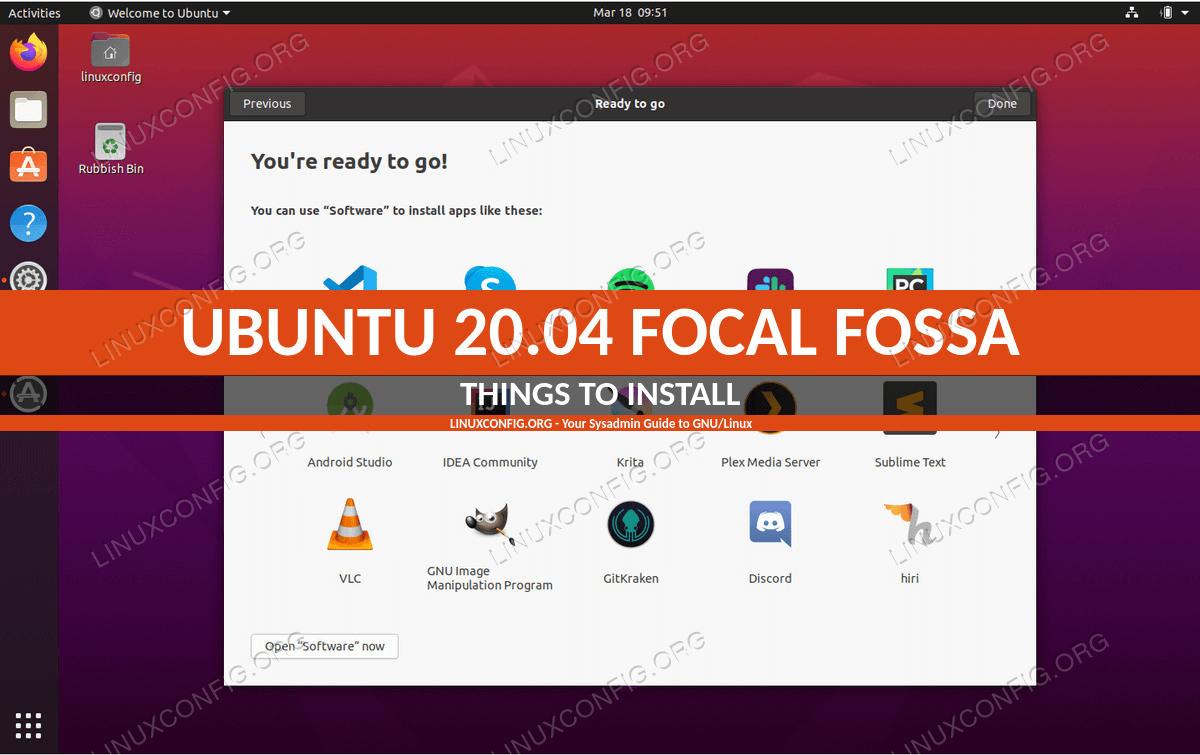 Вещи для установки на Ubuntu 20.04 Focal Fossa