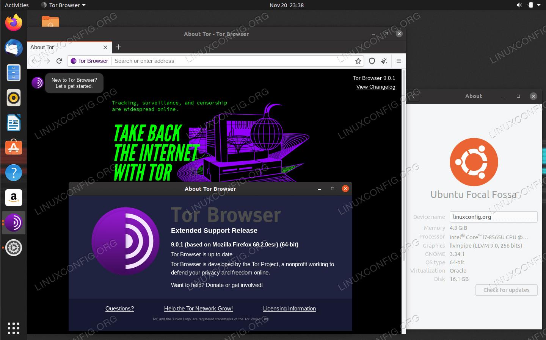 Браузер Tor на Ubuntu 20.04 LTS Focal Fossa