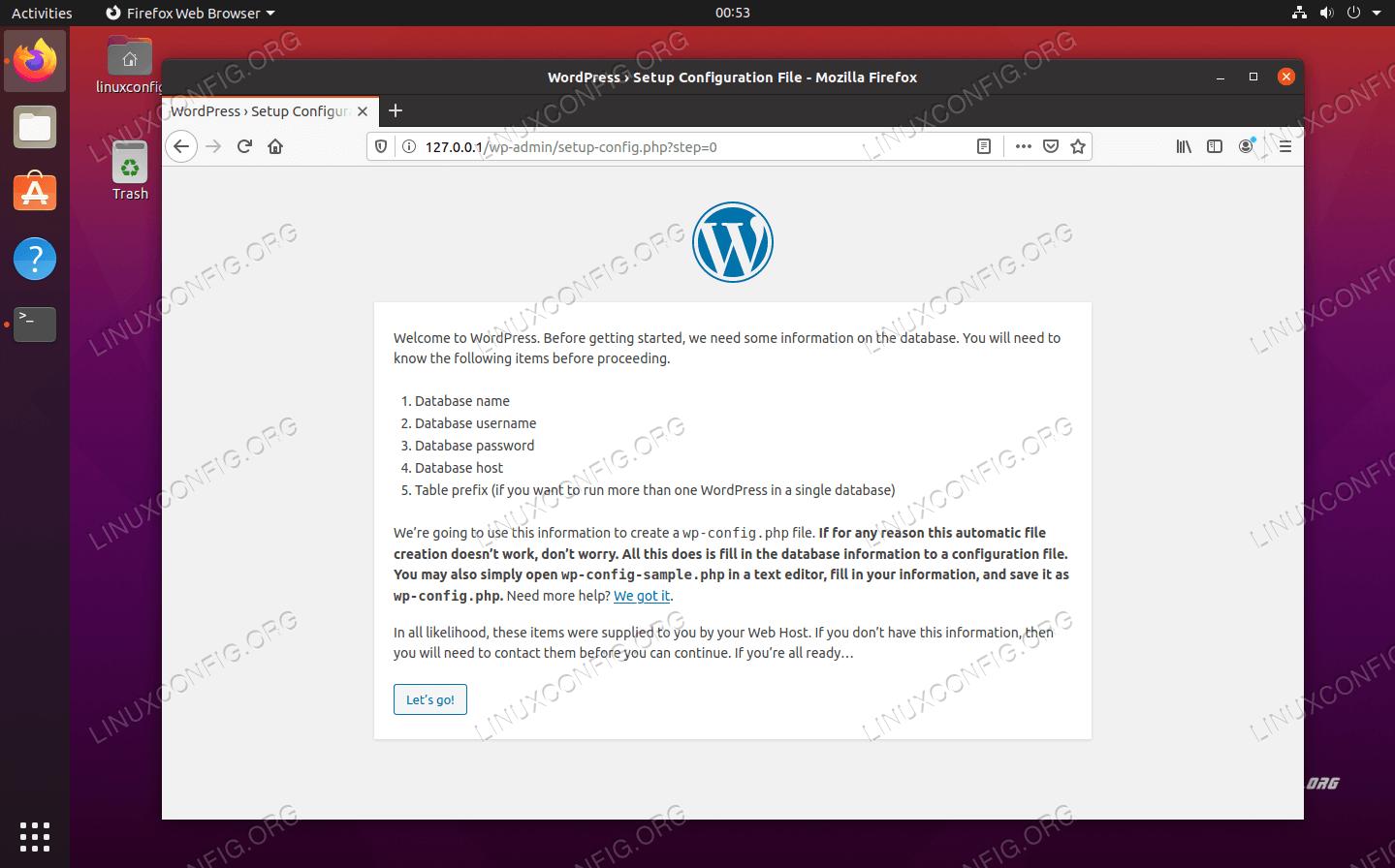 WordPressの初期設定ウィザード
