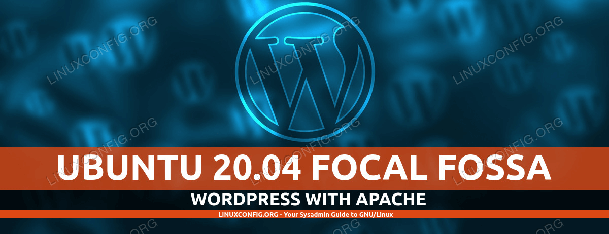 Apacheを備えたUbuntu 20.04で実行されているWordPressウェブサイト
