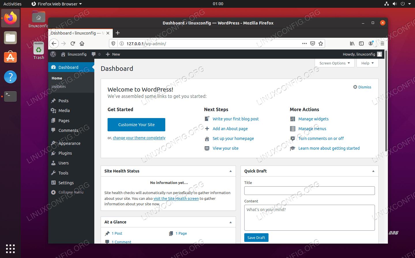 WordPress管理メニュー