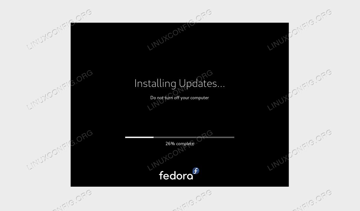 Рабочая станция Fedora 30 до обновления Fedora 31